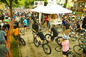 An annual highlight of the Riverwest neighborhood is a 24-hour bike race.