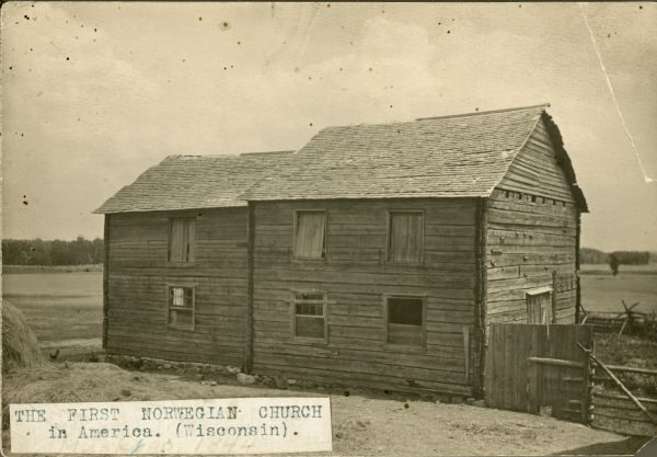 1894 photograph of the Norwegian Lutheran Church established in Muskego in 1843.