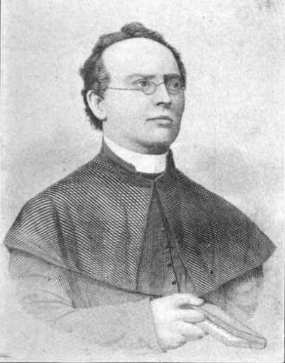Illustrated portrait of Joseph Salzmann, a prominent Austrian priest who immigrated to Milwaukee in 1847.