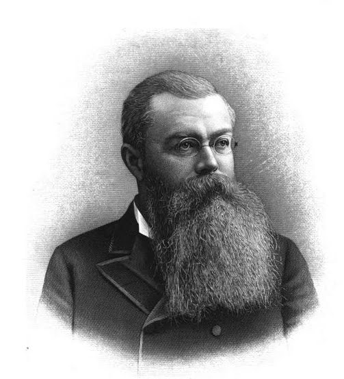 Portrait of John Mitchell, prominent Milwaukee banker, politician, and education advocate.