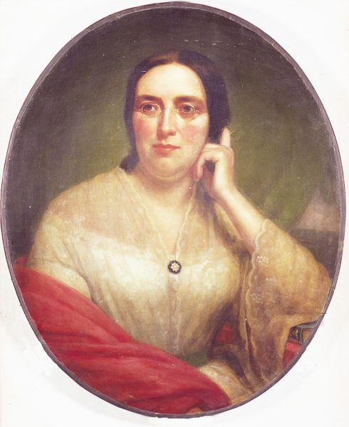 Portrait of Mary Blanchard Lynde, a woman known for her activism and reform advocacy throughout Wisconsin.