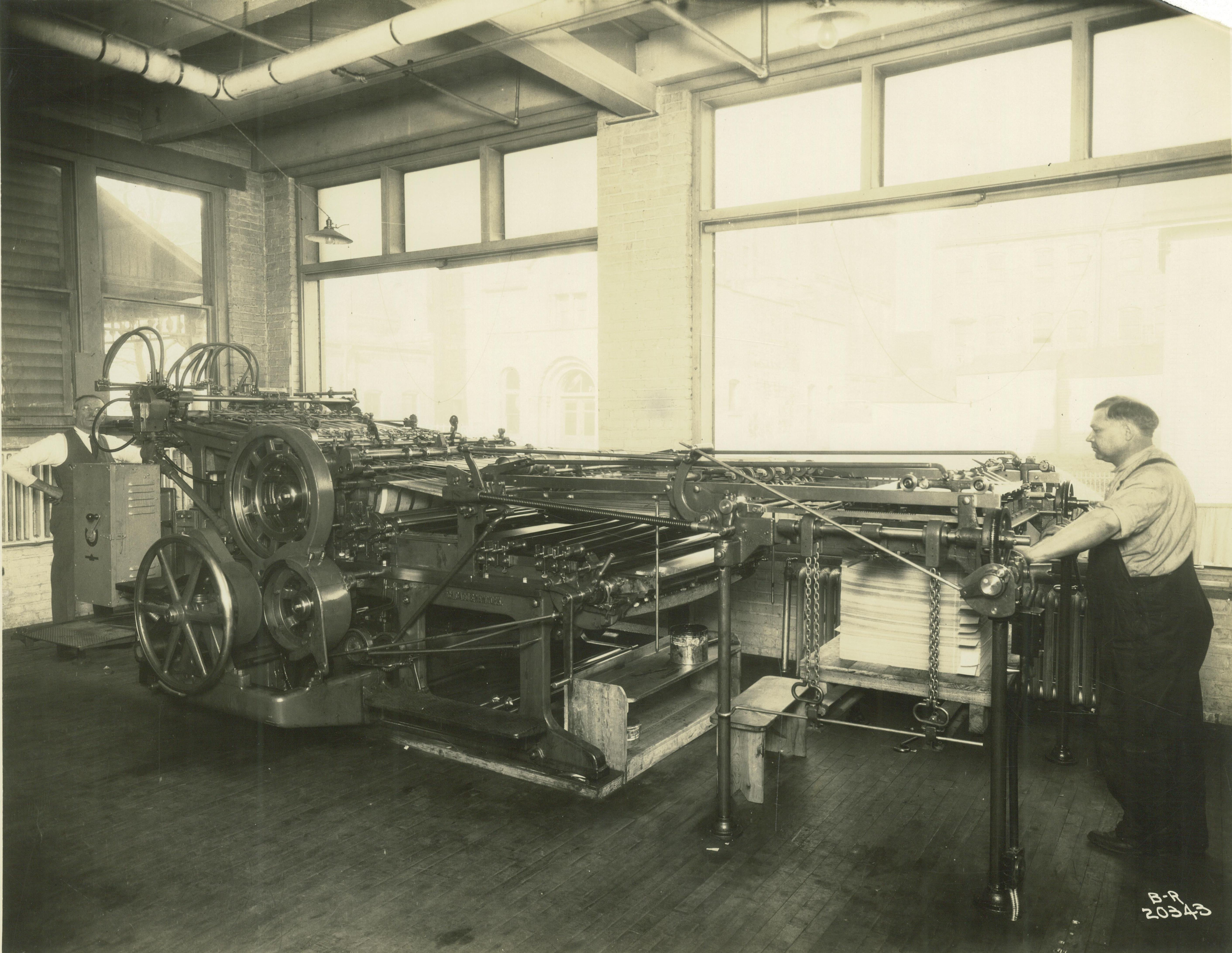 <table class=&quot;lightbox&quot;><tr><td colspan=2 class=&quot;lightbox-title&quot;>PrintingIndustry_02</td></tr><tr><td colspan=2 class=&quot;lightbox-caption&quot;>Worker operates a specialized printing press at the Krueger Printing Company. </td></tr><tr><td colspan=2 class=&quot;lightbox-spacer&quot;></td></tr><tr class=&quot;lightbox-detail&quot;><td class=&quot;cell-title&quot;>Source: </td><td class=&quot;cell-value&quot;>From the Historic Photo Collection of the Milwaukee Public Library. Reprinted with permission. <br /><a href=&quot;http://content.mpl.org/cdm/singleitem/collection/HstoricPho/id/4078/rec/8&quot; target=&quot;_blank&quot;>Milwaukee Public Library</a></td></tr><tr class=&quot;filler-row&quot;><td colspan=2>&nbsp;</td></tr></table>