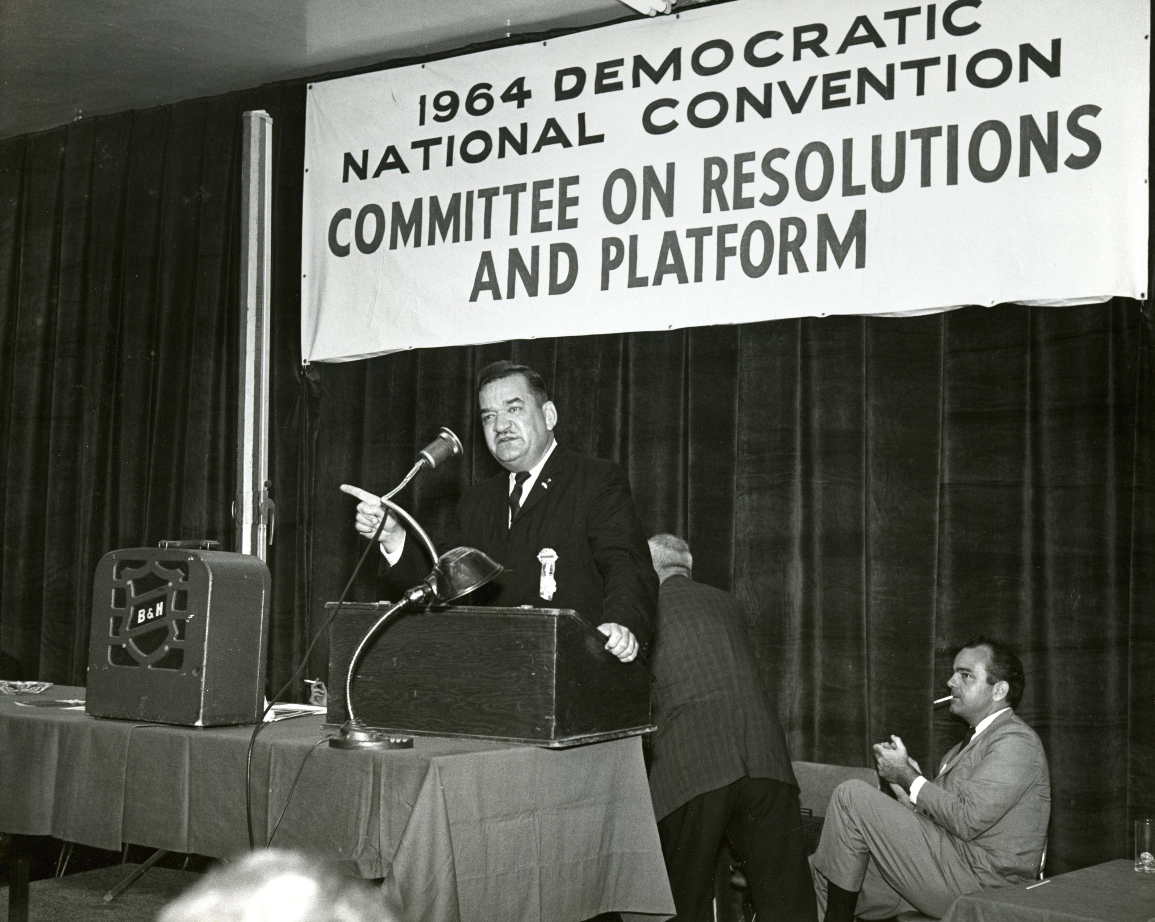 <table class=&quot;lightbox&quot;><tr><td colspan=2 class=&quot;lightbox-title&quot;>Representative Zablocki Speaks</td></tr><tr><td colspan=2 class=&quot;lightbox-caption&quot;>Representative Zablocki addresses the Committee on Resolutions and Platform at the 1964 Democratic National Convention in Chicago. </td></tr><tr><td colspan=2 class=&quot;lightbox-spacer&quot;></td></tr><tr class=&quot;lightbox-detail&quot;><td class=&quot;cell-title&quot;>Source: </td><td class=&quot;cell-value&quot;>Department of Special Collections and University Archives, Marquette University.<br /><a href=&quot;http://cdm16280.contentdm.oclc.org/cdm/singleitem/collection/p15072coll1/id/39/rec/67&quot; target=&quot;_blank&quot;>Marquette University</a></td></tr><tr class=&quot;filler-row&quot;><td colspan=2>&nbsp;</td></tr></table>