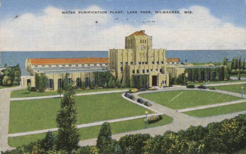 The grand architecture of Milwaukee's 1939 Water Purification Plant reflected the city's investment in clean water.
