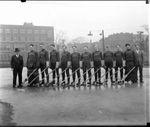 The Marquette University hockey team is pictured here in 1929.