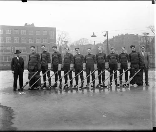 <table class=&quot;lightbox&quot;><tr><td colspan=2 class=&quot;lightbox-title&quot;>Marquette Hockey Team</td></tr><tr><td colspan=2 class=&quot;lightbox-caption&quot;>The Marquette University hockey team is pictured here in 1929.</td></tr><tr><td colspan=2 class=&quot;lightbox-spacer&quot;></td></tr><tr class=&quot;lightbox-detail&quot;><td class=&quot;cell-title&quot;>Source: </td><td class=&quot;cell-value&quot;>From the James Blair Murdoch Photographs. Archives, University of Wisconsin-Milwaukee Libraries.<br /><a href=&quot;https://collections.lib.uwm.edu/digital/collection/jbmurdoch/id/164/rec/26&quot; target=&quot;_blank&quot;>University of Wisconsin-Milwaukee Libraries</a></td></tr><tr class=&quot;filler-row&quot;><td colspan=2>&nbsp;</td></tr></table>