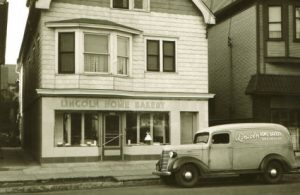 Pictured here in 1936, the Lincoln Home Bakery is an example of one of the many small bakeries once found around Milwaukee.