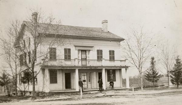 <table class=&quot;lightbox&quot;><tr><td colspan=2 class=&quot;lightbox-title&quot;>Hawks Tavern</td></tr><tr><td colspan=2 class=&quot;lightbox-caption&quot;>An 1884 photograph of the inn Nelson Hawks built in Delafield in 1846. Listed on the National Register of Historic Sites, the building is now used as a historical museum.</td></tr><tr><td colspan=2 class=&quot;lightbox-spacer&quot;></td></tr><tr class=&quot;lightbox-detail&quot;><td class=&quot;cell-title&quot;>Source: </td><td class=&quot;cell-value&quot;>From the Wisconsin Historical Society, WHS-30298. Reprinted with permission.<br /><a href=&quot;https://www.wisconsinhistory.org/Records/Image/IM30298&quot; target=&quot;_blank&quot;>Wisconsin Historical Society</a></td></tr><tr class=&quot;filler-row&quot;><td colspan=2>&nbsp;</td></tr></table>