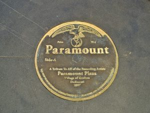 A plaque in Grafton's Paramount Plaza.