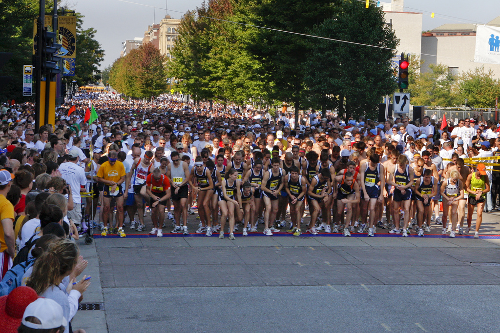 Runners line up at the start of the Briggs & Al's Run and Walk for Children's Hospital of Wisconsin in 2008.