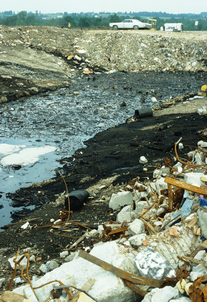 This 1980 photograph shows a portion of a landfill in Germantown that closed in 1989.