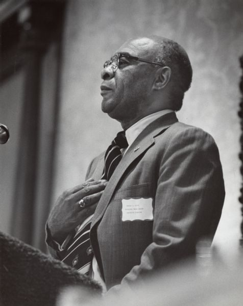 A 1977 photograph of Milwaukee Urban League executive director Wesley Scott.