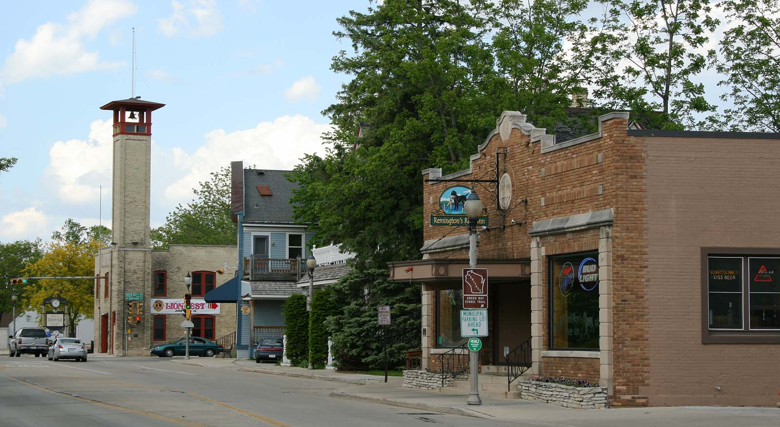 Thiensville's Main Street includes ten buildings that make up a Historic District on the National Register of Historic Places.