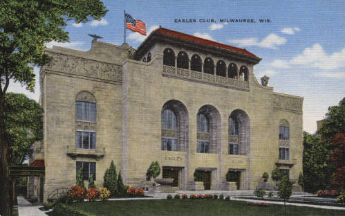 <table class=&quot;lightbox&quot;><tr><td colspan=2 class=&quot;lightbox-title&quot;>Eagles Club</td></tr><tr><td colspan=2 class=&quot;lightbox-caption&quot;>Now a popular concert venue known as the Rave, the Eagles Club first opened in 1927.</td></tr><tr><td colspan=2 class=&quot;lightbox-spacer&quot;></td></tr><tr class=&quot;lightbox-detail&quot;><td class=&quot;cell-title&quot;>Source: </td><td class=&quot;cell-value&quot;>Greetings from Milwaukee: Selections from the Thomas and Jean Ross Bliffert Postcard Collection, Archives. University of Wisconsin-Milwaukee Libraries.<br /><a href=&quot;https://collections.lib.uwm.edu/digital/collection/gfmmke/id/366/rec/7&quot; target=&quot;_blank&quot;>University of Wisconsin-Milwaukee Libraries</a></td></tr><tr class=&quot;filler-row&quot;><td colspan=2>&nbsp;</td></tr></table>