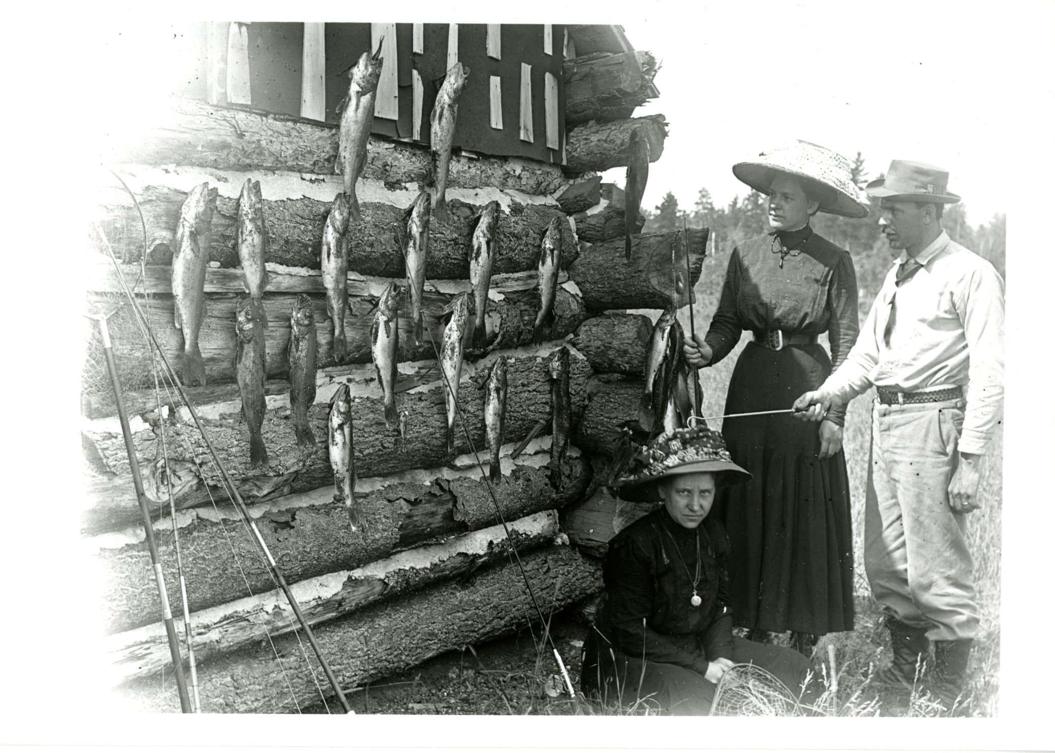 <table class=&quot;lightbox&quot;><tr><td colspan=2 class=&quot;lightbox-title&quot;>Fishing Catch of the Day</td></tr><tr><td colspan=2 class=&quot;lightbox-caption&quot;>Louise Flancher, Elsa Gruettner, and Edwin Flancher stand near their walleye catch before preparing to ship it from Manitowish to Milwaukee in 1905.</td></tr><tr><td colspan=2 class=&quot;lightbox-spacer&quot;></td></tr><tr class=&quot;lightbox-detail&quot;><td class=&quot;cell-title&quot;>Source: </td><td class=&quot;cell-value&quot;>Photograph of the Gruettner Family 1905-1911 Collection, Archives. University of Wisconsin-Milwaukee Libraries. <br /><a href=&quot;http://digicoll.library.wisc.edu/cgi/f/findaid/findaid-idx?location=wimiugma;c=wiarchives;cc=wiarchives;q1=photographs;rgn=main;view=text;didno=uw-mil-uwmmss0032.&quot; target=&quot;_blank&quot;>University of Wisconsin-Milwaukee Libraries</a></td></tr><tr class=&quot;filler-row&quot;><td colspan=2>&nbsp;</td></tr></table>