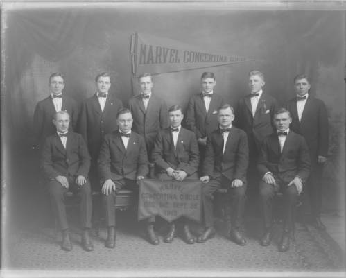 <table class=&quot;lightbox&quot;><tr><td colspan=2 class=&quot;lightbox-title&quot;>Marvel Concertina Circle</td></tr><tr><td colspan=2 class=&quot;lightbox-caption&quot;>Music performance groups within Milwaukee's many ethnic communities were common in the 20th century. The Marvel Concertina Circle, pictured here in 1913, was part of the city's Polish community.</td></tr><tr><td colspan=2 class=&quot;lightbox-spacer&quot;></td></tr><tr class=&quot;lightbox-detail&quot;><td class=&quot;cell-title&quot;>Source: </td><td class=&quot;cell-value&quot;>From the Roman B. Kwaniewski Photographs Collection, Archives. University of Wisconsin-Milwaukee Libraries.<br /><a href=&quot;https://collections.lib.uwm.edu/digital/collection/mke-polonia/id/36471/rec/89&quot; target=&quot;_blank&quot;>University of Wisconsin-Milwaukee Libraries</a></td></tr><tr class=&quot;filler-row&quot;><td colspan=2>&nbsp;</td></tr></table>
