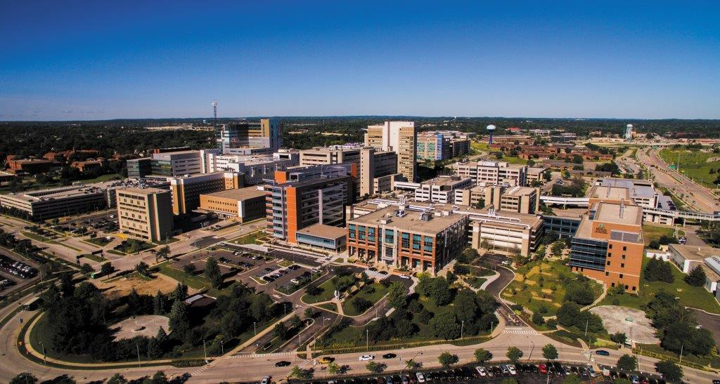 <table class=&quot;lightbox&quot;><tr><td colspan=2 class=&quot;lightbox-title&quot;>Medical College of Wisconsin</td></tr><tr><td colspan=2 class=&quot;lightbox-caption&quot;>An aerial view of the Medical College of Wisconsin's Milwaukee campus as seen in 2018. </td></tr><tr><td colspan=2 class=&quot;lightbox-spacer&quot;></td></tr><tr class=&quot;lightbox-detail&quot;><td class=&quot;cell-title&quot;>Source: </td><td class=&quot;cell-value&quot;>Photograph courtesy of the Medical College of Wisconsin. Reprinted with permission. </td></tr><tr class=&quot;filler-row&quot;><td colspan=2>&nbsp;</td></tr></table>