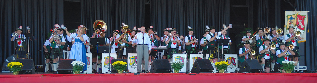 Musicians dressed in traditional German garb perform at German Fest in 2007.