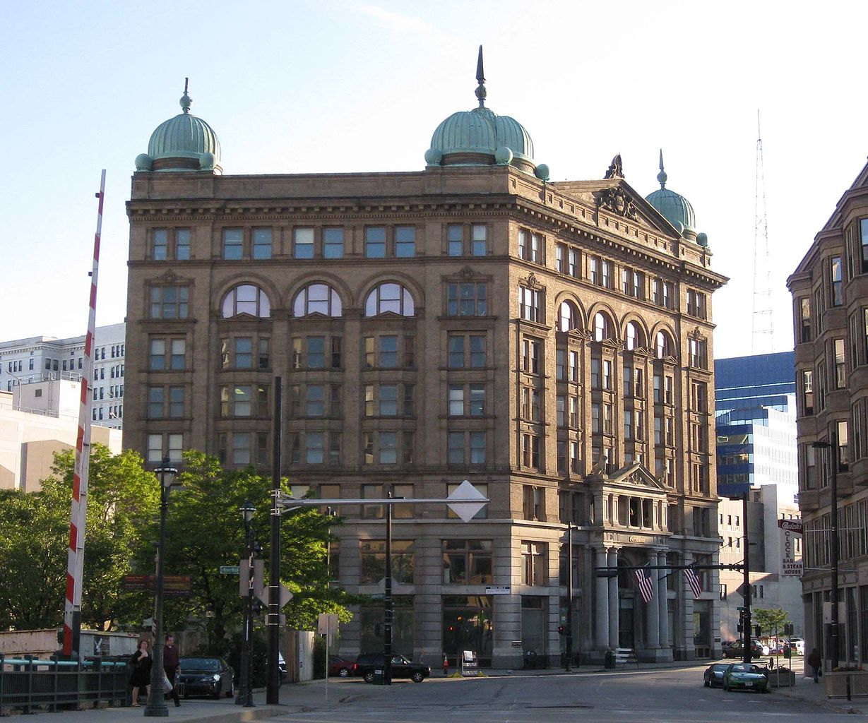 <table class=&quot;lightbox&quot;><tr><td colspan=2 class=&quot;lightbox-title&quot;>Germania Building</td></tr><tr><td colspan=2 class=&quot;lightbox-caption&quot;>Built in 1896, the Germania Building downtown once served as the headquarters of the Brumder Publishing Company. </td></tr><tr><td colspan=2 class=&quot;lightbox-spacer&quot;></td></tr><tr class=&quot;lightbox-detail&quot;><td class=&quot;cell-title&quot;>Source: </td><td class=&quot;cell-value&quot;>From the Wikimedia Commons. <br /><a href=&quot;https://commons.wikimedia.org/wiki/File:Germania_Bldg_Milw_0906.jpg&quot; target=&quot;_blank&quot;>Wikimedia Commons</a></td></tr><tr class=&quot;filler-row&quot;><td colspan=2>&nbsp;</td></tr></table>