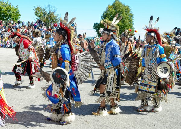 Traditional Native American dances are a central aspect of Indian Summer Festival, as seen here in 2015.