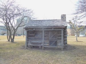Initially constructed in 1947 and restored in 2007, this replica of French fur trader and Milwaukee co-founder Solomon Juneau's cabin is located in Juneau Park.