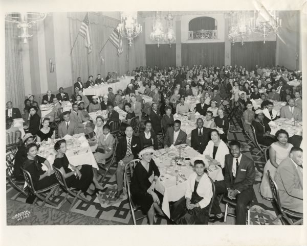 Members of the NAACP's Milwaukee branch gather for their annual dinner, as seen here in 1958.