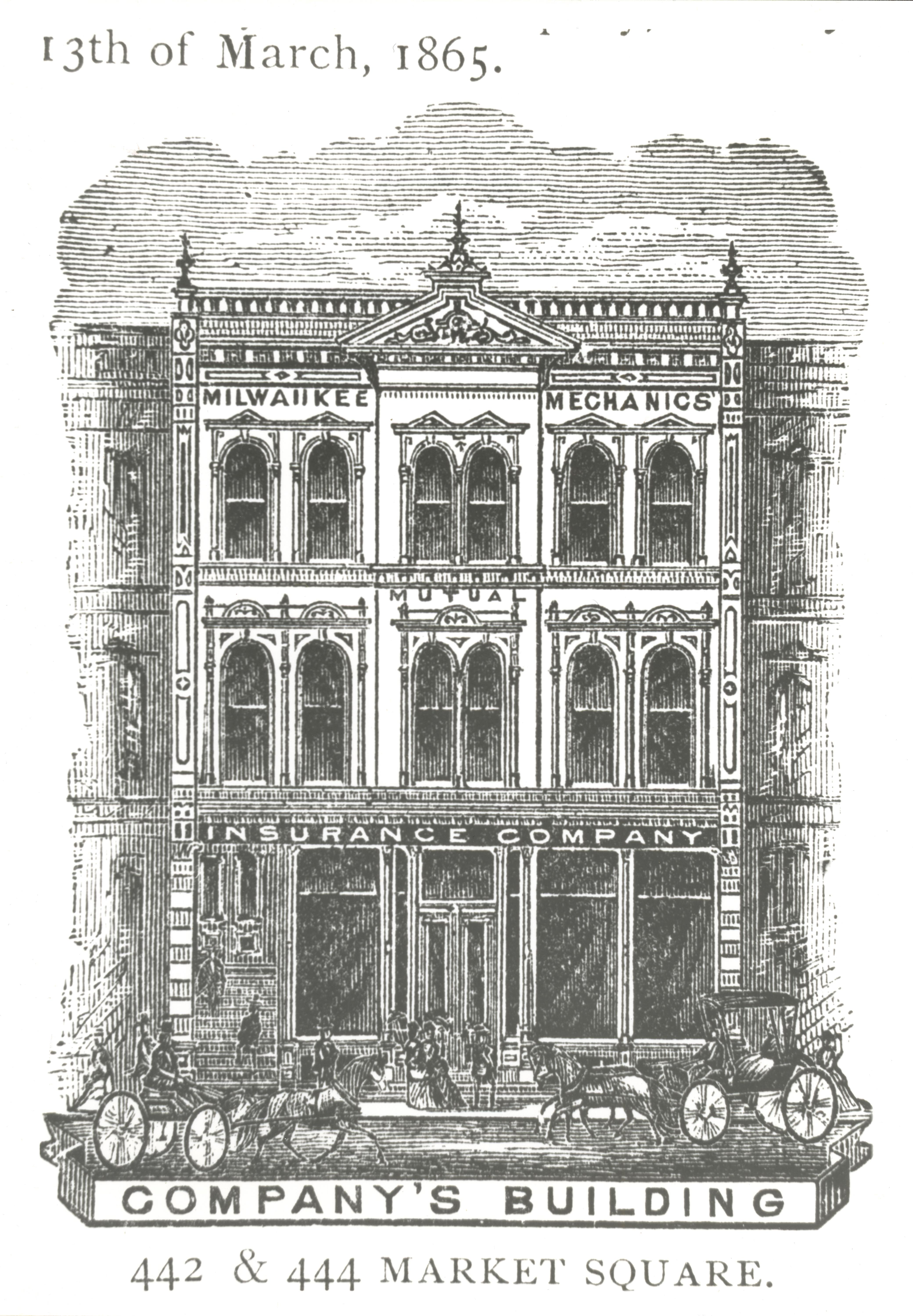 <table class=&quot;lightbox&quot;><tr><td colspan=2 class=&quot;lightbox-title&quot;>Milwaukee Mechanics Mutual Insurance Company</td></tr><tr><td colspan=2 class=&quot;lightbox-caption&quot;>Illustration of the Milwaukee Mechanics Mutual Insurance Company building once located on Water Street.</td></tr><tr><td colspan=2 class=&quot;lightbox-spacer&quot;></td></tr><tr class=&quot;lightbox-detail&quot;><td class=&quot;cell-title&quot;>Source: </td><td class=&quot;cell-value&quot;>From the Historic Photo Collection of the Milwaukee Public Library. Reprinted with permission. <br /><a href=&quot;http://content.mpl.org/cdm/singleitem/collection/HstoricPho/id/2623/rec/63&quot; target=&quot;_blank&quot;>Milwaukee Public Library</a></td></tr><tr class=&quot;filler-row&quot;><td colspan=2>&nbsp;</td></tr></table>
