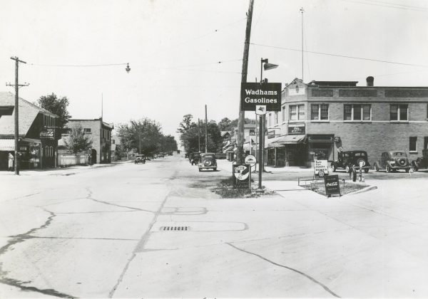 The intersection of N. 35th Street and Silver Spring Avenue, as it appeared in 1940.