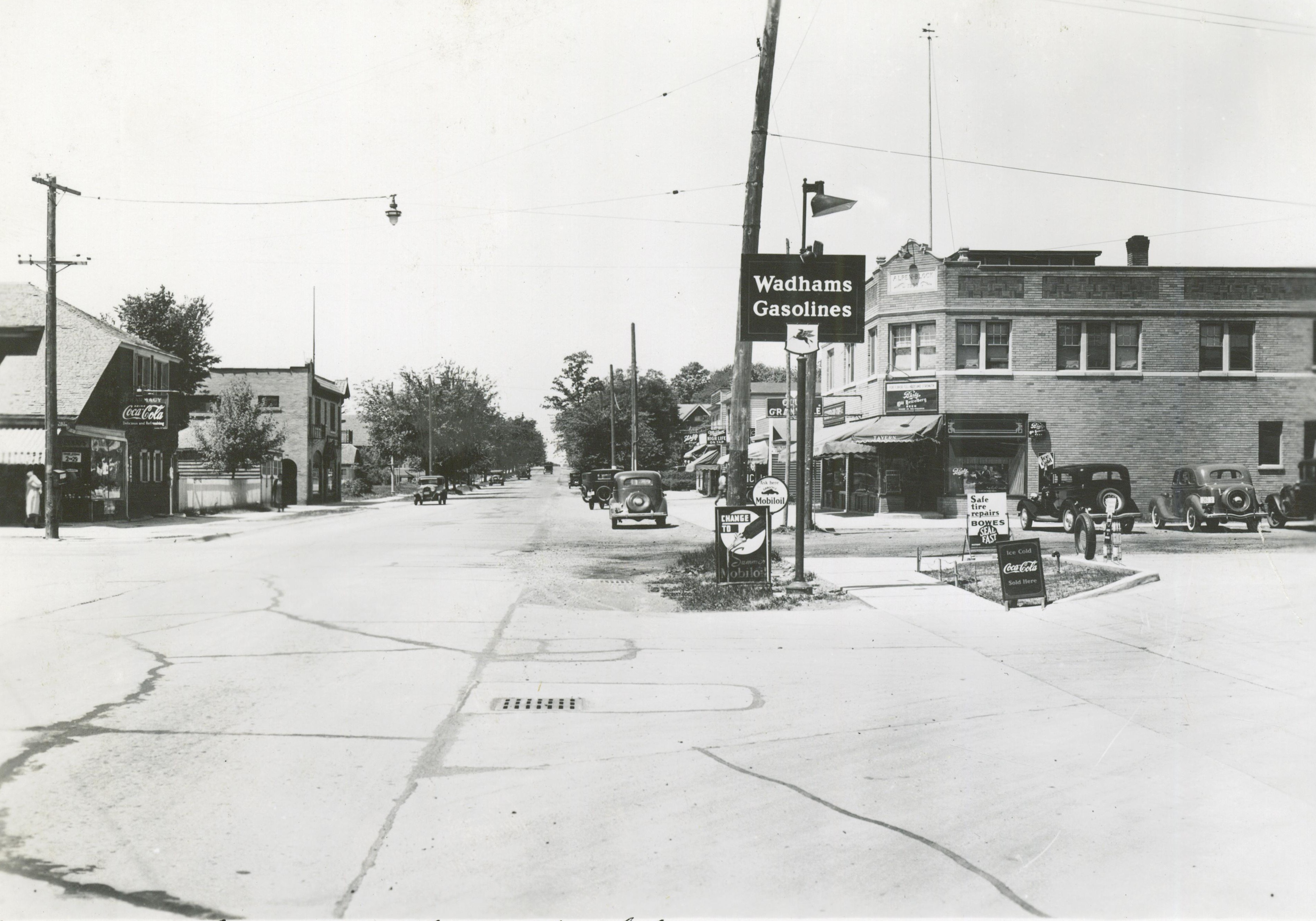 <table class=&quot;lightbox&quot;><tr><td colspan=2 class=&quot;lightbox-title&quot;>Thurston Woods</td></tr><tr><td colspan=2 class=&quot;lightbox-caption&quot;>The intersection of N. 35th Street and Silver Spring Avenue, as it appeared in 1940.</td></tr><tr><td colspan=2 class=&quot;lightbox-spacer&quot;></td></tr><tr class=&quot;lightbox-detail&quot;><td class=&quot;cell-title&quot;>Source: </td><td class=&quot;cell-value&quot;>From the Historic Photo Collection of the Milwaukee Public Library. Reprinted with permission.<br /><a href=&quot;http://content.mpl.org/cdm/singleitem/collection/HstoricPho/id/7496/rec/46&quot; target=&quot;_blank&quot;>Milwaukee Public Library</a></td></tr><tr class=&quot;filler-row&quot;><td colspan=2>&nbsp;</td></tr></table>