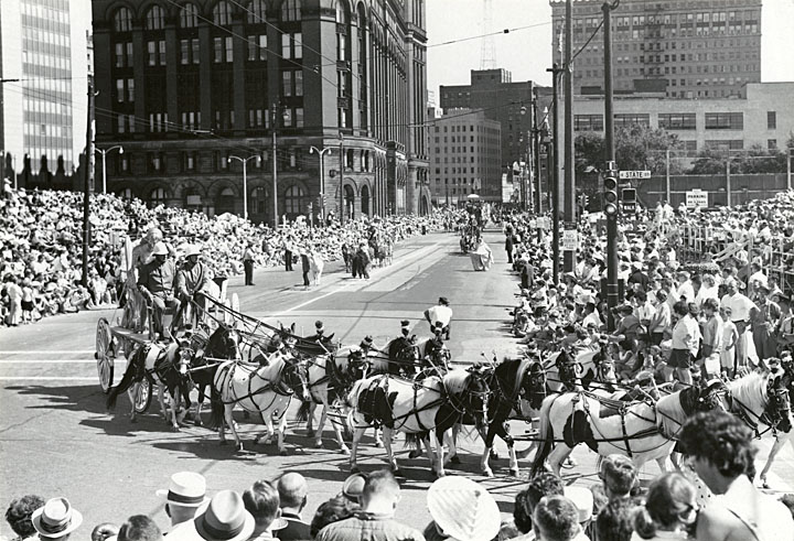 <table class=&quot;lightbox&quot;><tr><td colspan=2 class=&quot;lightbox-title&quot;>Great Circus Parade</td></tr><tr><td colspan=2 class=&quot;lightbox-caption&quot;>A carriage drawn by a team of ponies turns onto State Street in Milwaukee in 1964. </td></tr><tr><td colspan=2 class=&quot;lightbox-spacer&quot;></td></tr><tr class=&quot;lightbox-detail&quot;><td class=&quot;cell-title&quot;>Source: </td><td class=&quot;cell-value&quot;>From the State of Wisconsin Collection of the UW Digital Collections Library. Image ID WI.dnr1145.bib. Photograph courtesy of the Wisconsin Department of Natural Resources. CC BY-ND 4.0.<br /><a href=&quot;https://uwdc.library.wisc.edu&quot; target=&quot;_blank&quot;>UW Digital Collections Library</a></td></tr><tr class=&quot;filler-row&quot;><td colspan=2>&nbsp;</td></tr></table>