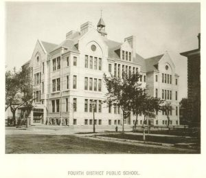 Built in 1884 on the corner of 8th and Michigan Streets, the Fourth District Public School is still in use. Today it is home to Project STAY, an alternative high school run by MPS for at-risk students.
