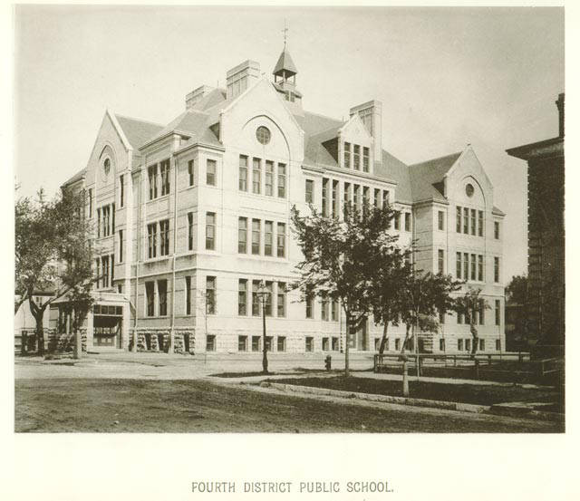 <table class=&quot;lightbox&quot;><tr><td colspan=2 class=&quot;lightbox-title&quot;>Fourth District Public School</td></tr><tr><td colspan=2 class=&quot;lightbox-caption&quot;>Built in 1884 on the corner of 8th and Michigan Streets, the Fourth District Public School is still in use. Today it is home to Project STAY, an alternative high school run by MPS for at-risk students. </td></tr><tr><td colspan=2 class=&quot;lightbox-spacer&quot;></td></tr><tr class=&quot;lightbox-detail&quot;><td class=&quot;cell-title&quot;>Source: </td><td class=&quot;cell-value&quot;>From Milwaukee Illustrated, Special Collections, University of Wisconsin-Milwaukee Libraries. <br /><a href=&quot;https://collections.lib.uwm.edu/digital/collection/mkenh/id/268/rec/1&quot; target=&quot;_blank&quot;>University of Wisconsin-Milwaukee Libraries</a></td></tr><tr class=&quot;filler-row&quot;><td colspan=2>&nbsp;</td></tr></table>