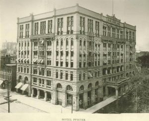 Constructed in 1893, the Pfister Hotel was restored by the Marcus Corporation and remains a Milwaukee landmark.