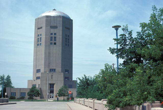 <table class=&quot;lightbox&quot;><tr><td colspan=2 class=&quot;lightbox-title&quot;>Town of Lake Water Tower</td></tr><tr><td colspan=2 class=&quot;lightbox-caption&quot;>The Town of Lake Water Tower, on South 6th Street in the Tippecanoe neighborhood, was built in 1938 in the Art Deco style. It is shown here in 1975.</td></tr><tr><td colspan=2 class=&quot;lightbox-spacer&quot;></td></tr><tr class=&quot;lightbox-detail&quot;><td class=&quot;cell-title&quot;>Source: </td><td class=&quot;cell-value&quot;>From the Harold Mayer Collection, American Geographical Society Library, University of Wisconsin-Milwaukee Libraries.<br /><a href=&quot;https://collections.lib.uwm.edu/digital/collection/mkenh/id/66/rec/1&quot; target=&quot;_blank&quot;>University of Wisconsin-Milwaukee Libraries</a></td></tr><tr class=&quot;filler-row&quot;><td colspan=2>&nbsp;</td></tr></table>