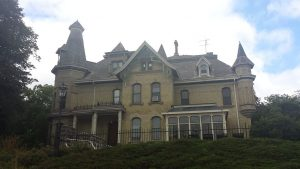 Henry Schuttler, whose wealth came from his father's successful wagon-making factory in Chicago, established a large farmstead in Oconomowoc in the 1870s. The Schuttler House, pictured here, was built between 1879 and 1880.