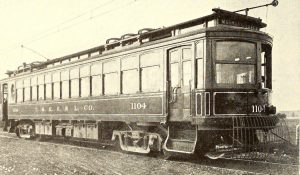 This 1908 image provides a detailed look at a TMER&L Company car.
