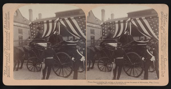 In 1902, Prince Henry of Prussia visited the United States. The younger brother of Kaiser Wilhelm II is seen here in his carriage in Milwaukee.