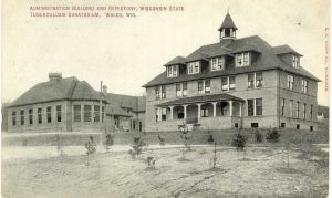 Located near Wales, the Wisconsin State Tuberculosis Sanatorium opened in 1907. It closed in 1957 and reopened in 1959 as the Ethan Allen School for Boys.