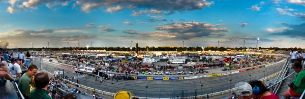The Milwaukee Mile continues to be a popular venue for racing enthusiasts. This photograph from 2009 captures the Mile hosting the NASCAR Camping World Truck Series.