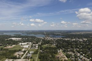 This 2016 photograph shows Oconomowoc's continuing relationship with water.