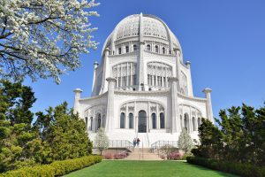 The Baha'i House of Worship located in a suburb outside Chicago is the only Baha'i temple in the United States. Wisconsinites donated to the temple's construction, which took over forty years to complete.