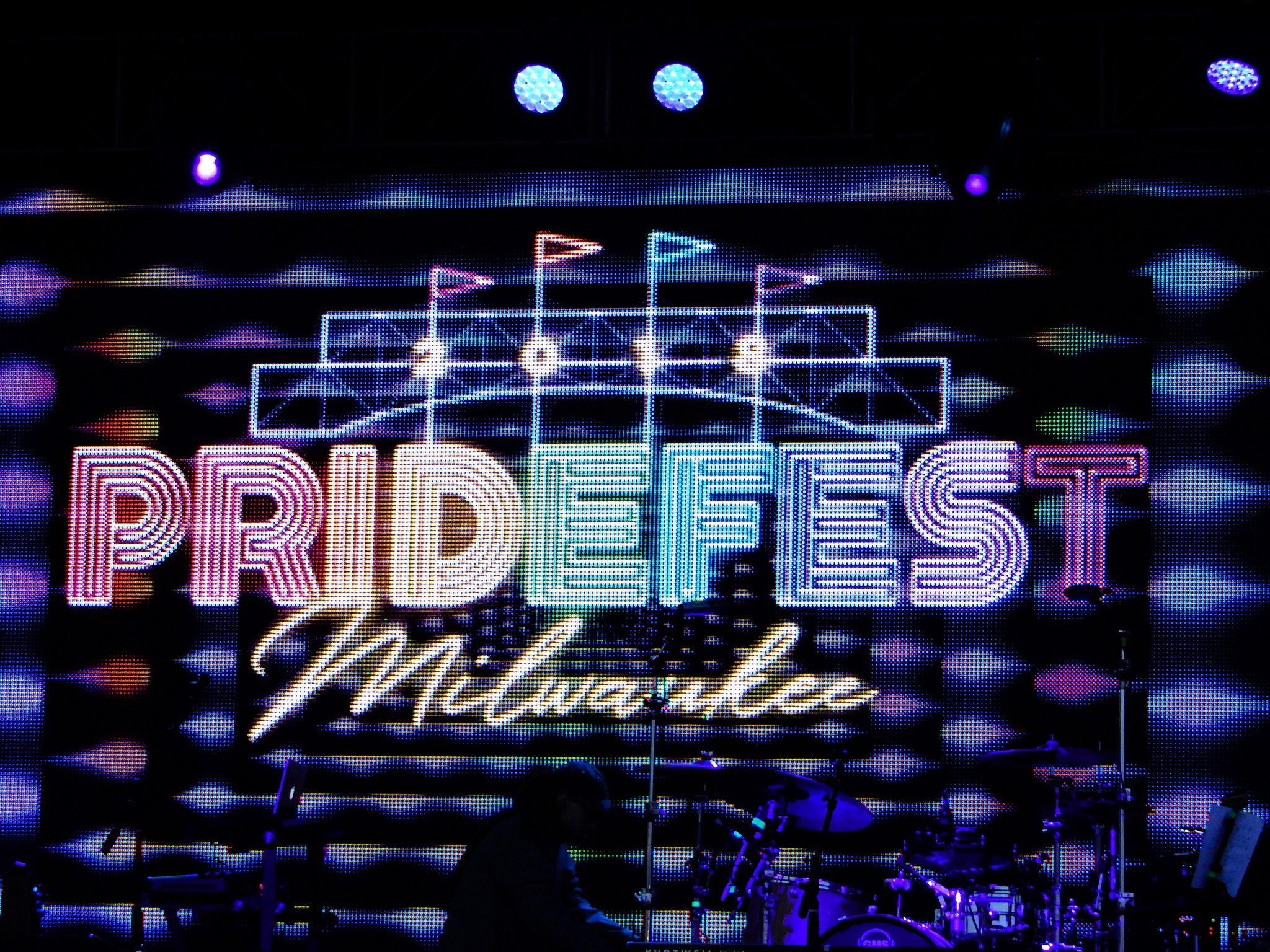 Since 1988, Milwaukee's annual PrideFest has become an ever-growing staple to the city's festival scene. This neon display is from the 2018 celebration.