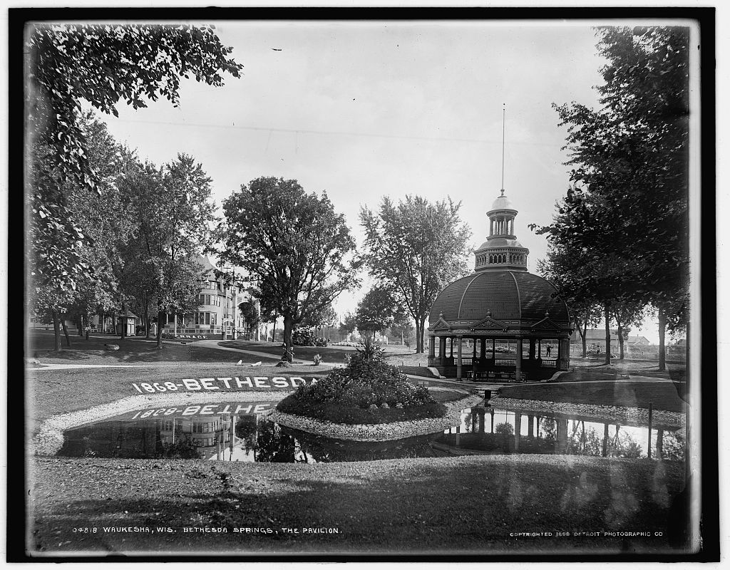 Located in Waukesha, Bethesda Springs was a popular destination for people seeking to try hydropathy as a cure for their ailments.