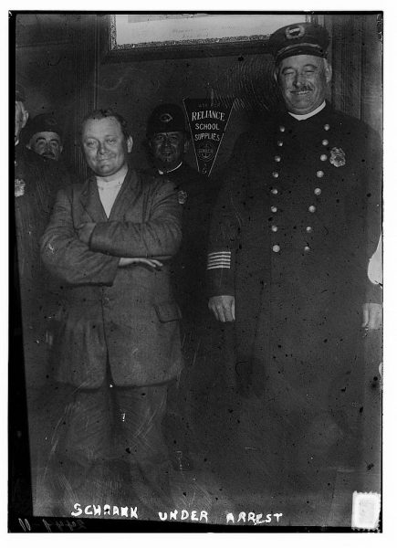 In October 1912, John Schrank attempted to assassinate President Teddy Roosevelt during his visit to Milwaukee. Schrank was quickly arrested and institutionalized at a facility in Waupun, Wisconsin.