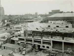 The construction of the Milwaukee Arena, completed in 1950, was one of the first major initiatives for which the Greater Milwaukee Committee advocated. It is now known as the UWM Panther Arena.