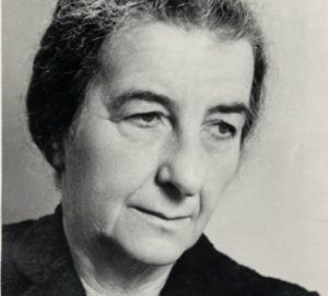 Golda Meir as pictured in 1962, the year she published her first book.