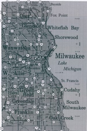 This map of Milwaukee County from 2006 illustrates the many towns and villages that compose the Iron Ring around the city of Milwaukee that developed as a result of the Oak Creek Law.