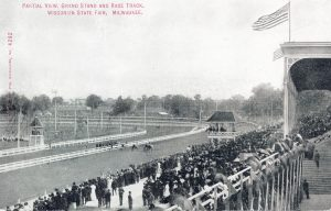 Though known as the world's oldest continually operated motor speedway, the Milwaukee Mile first began its tenure as a horse racing track, as depicted on this postcard.