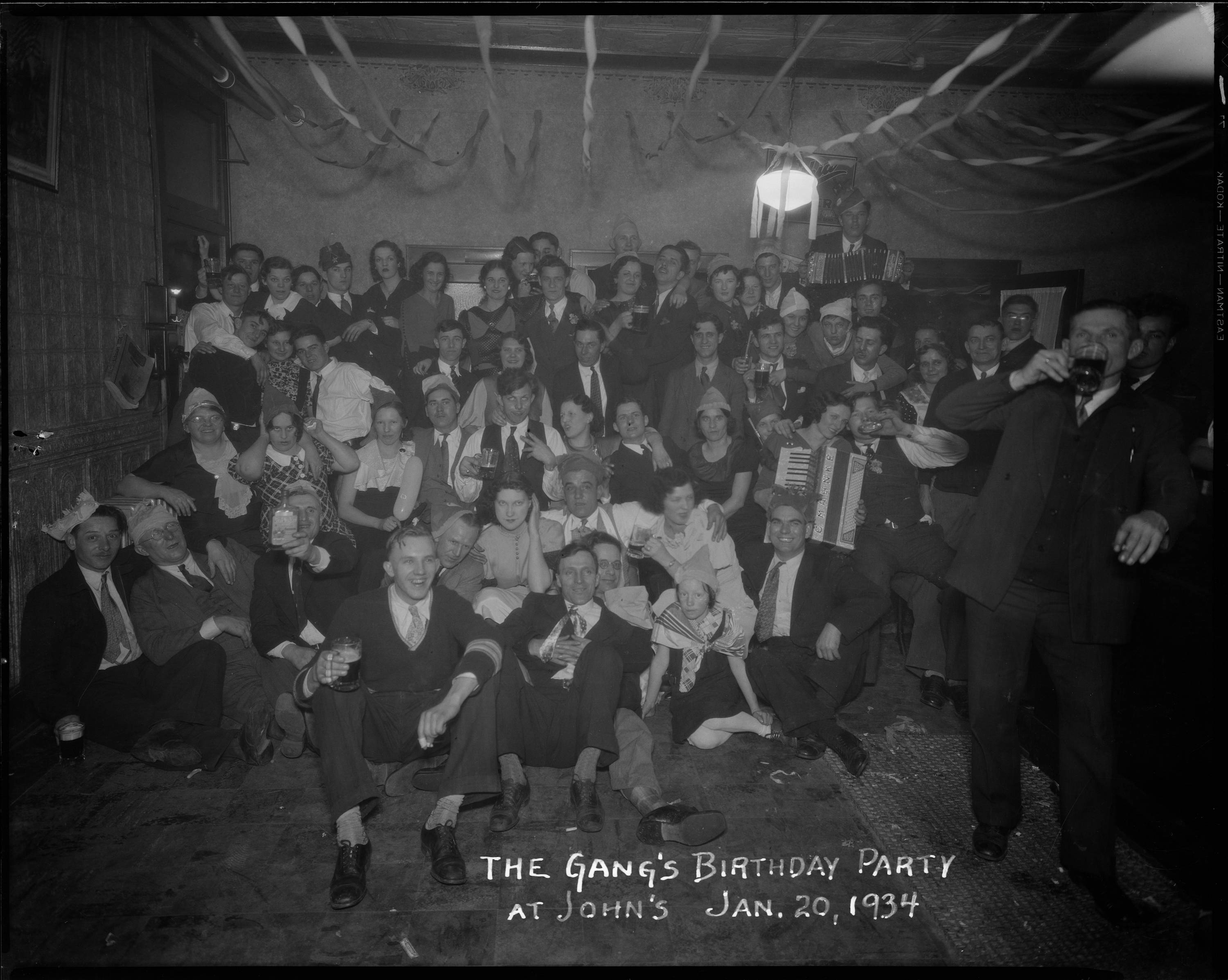 <table class=&quot;lightbox&quot;><tr><td colspan=2 class=&quot;lightbox-title&quot;>Birthday Party</td></tr><tr><td colspan=2 class=&quot;lightbox-caption&quot;>The spirit of Gemütlichkeit is captured through this gathering of friends for a birthday party in 1934. </td></tr><tr><td colspan=2 class=&quot;lightbox-spacer&quot;></td></tr><tr class=&quot;lightbox-detail&quot;><td class=&quot;cell-title&quot;>Source: </td><td class=&quot;cell-value&quot;>From the Roman B. Kwaniewski Photographs Collection, Archives. University of Wisconsin-Milwaukee Libraries. </td></tr><tr class=&quot;filler-row&quot;><td colspan=2>&nbsp;</td></tr></table>