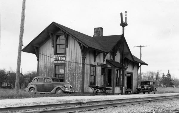 The Sussex railroad depot, pictured here in 1941, was originally constructed in 1888 and known as Templeton, after settlement founder James Templeton.